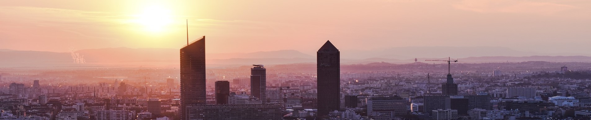 Carte des ilots de chaleur et de fraicheur urbains Lyon et Marseille